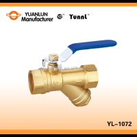New Product Brass Ball Valve Lever Handle Y Type Filter Ball Valve