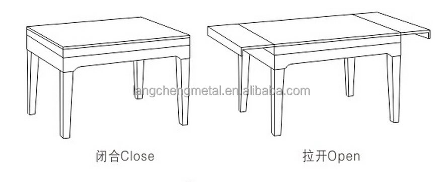 Plastic Guide Extension Table Slide(table extension slide)