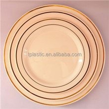Disposable PS plastic plate with hot stamp plastic blue charger plates
