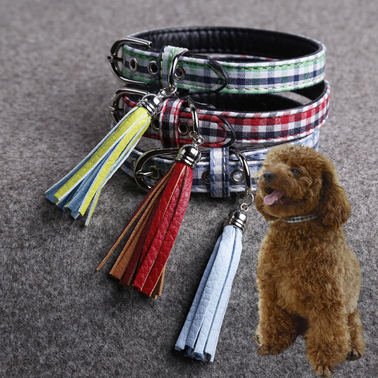 Dog Collar Classic Plaid Style Designer Pet Smart Dog