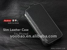 YOOBAO Slim Leather Case for iPhone4 real leather Black
