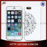 Fashionable Silver Design IMD Technique TPU cell phone case for Iphone 6