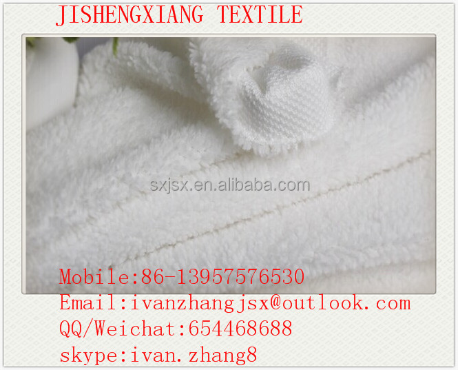 Jishengxiang factory wholesale 2016 China supplier polyester sherpa lining fabric,polyester fleece fabric for sportswear lining