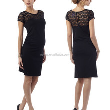 lace panel evening dresses for pregnant women