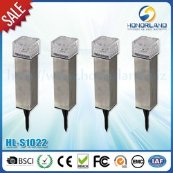 stainless brick solar lawn light