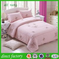 wholesale 6pcs hotel bedding set with three stripe made in china