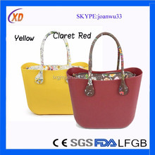 new colorful bag o rubber bag silicone tote bag