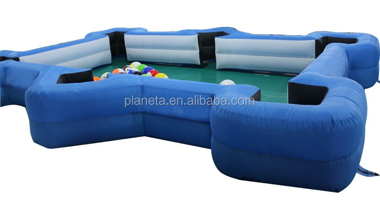 Newest Huge Size Inflatable Human Billiards Table Soccer Pool Ball Game