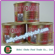 Tomato Paste, 70gr*100, easy/hard open in round tin can
