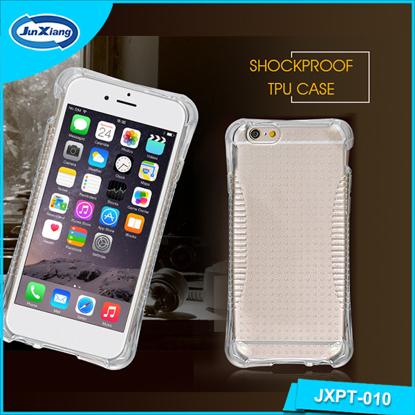 Hot selling Online shockproof clear tpu cell case for iphone 6/6s