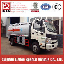 Used Oil Tankers Truck for Sale 5Ton Futon Fuel Bowser 4*2 Tank 6 cbm