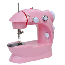 ZOGIFT 4AA batteries operated mini electric household flat lock sewing machine price FHSM-202 with straight stitches