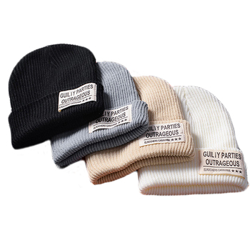 Beanies with Custom Embroidery, Oem Acrylic Wholesale Knitted Winter Hats Mens Custom Beanie