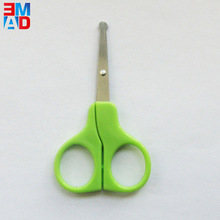 Mini size paper cutting round blade student safety children scissors for kids