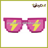 Custom cheap Promotional pinhole lens pixelated glasses