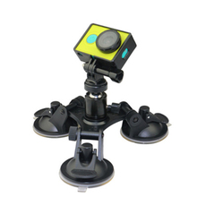 Removable Tri-Angle Suction Cup Mount for <strong>Gopros</strong> , 9CM Diameter Suction Cup For Go Pro Accessories 5/4/3+/3/2/1