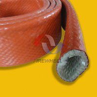 Silicone Rubber Coated Cable Fiberglass Sleeve
