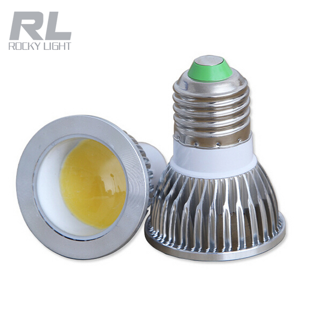 CE RoHS 3W 5W Aluminum led COB spotlight high quality E27 base lamp led spot light
