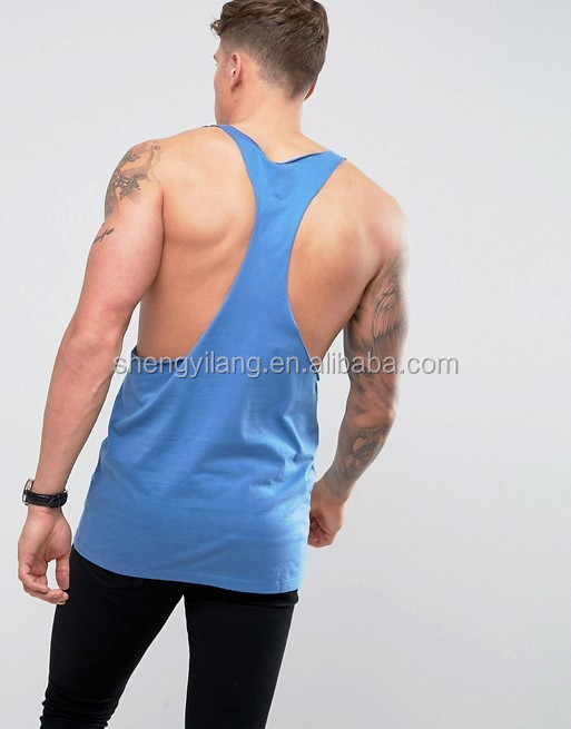Mens Extreme Lightweight Racer Back Vest With Raw Neck and Armhole tanktop