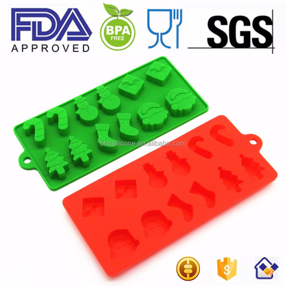 Christmas Chocolate Molds,3D Stocking Snowman Silicone Candy Cookie Maker Mold