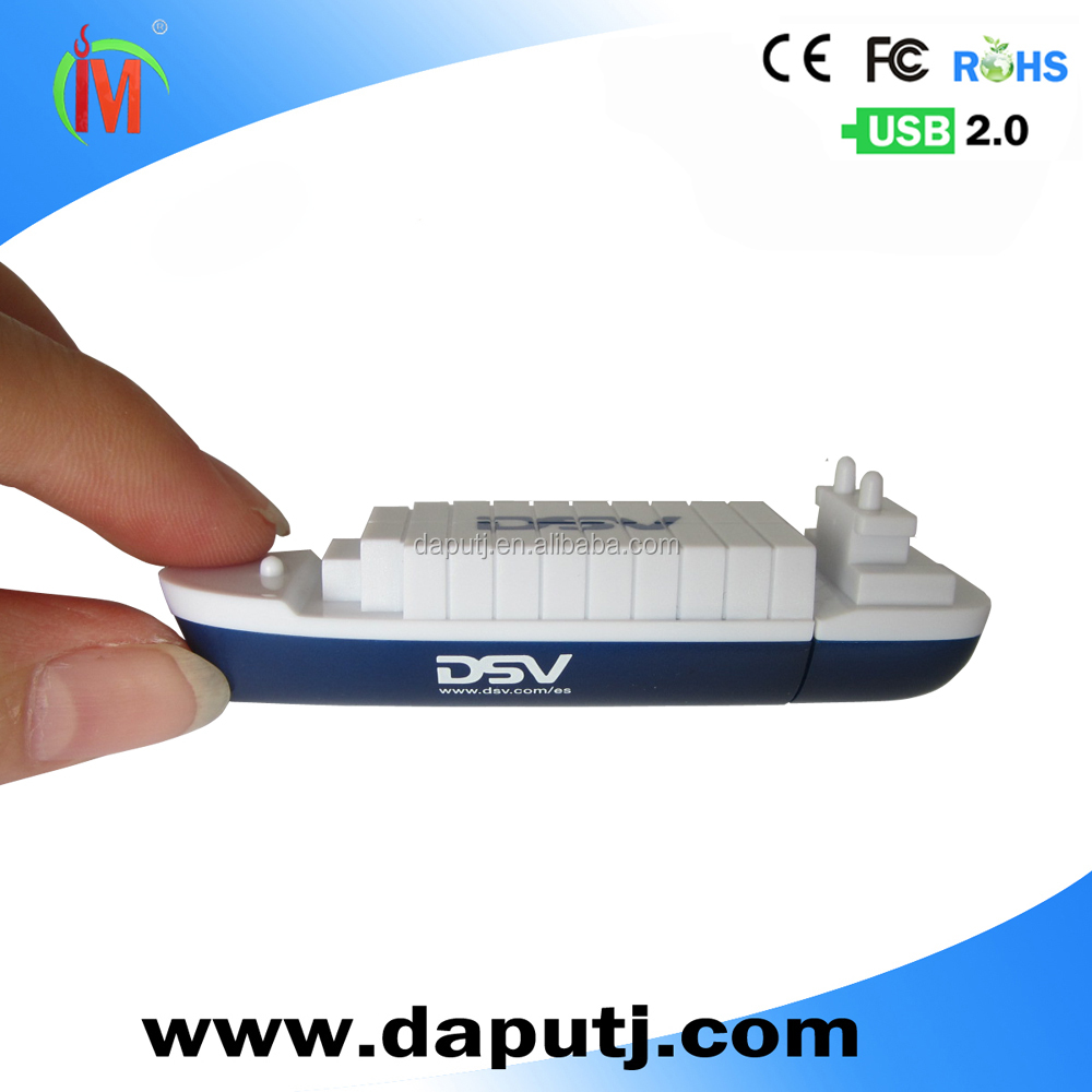 wholesale boat shape usb memory stick cheap usb card reader