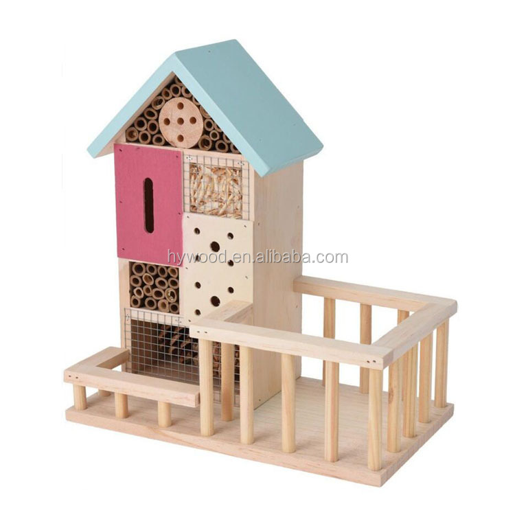 factory supply outdoor hanging wood pet house for bee