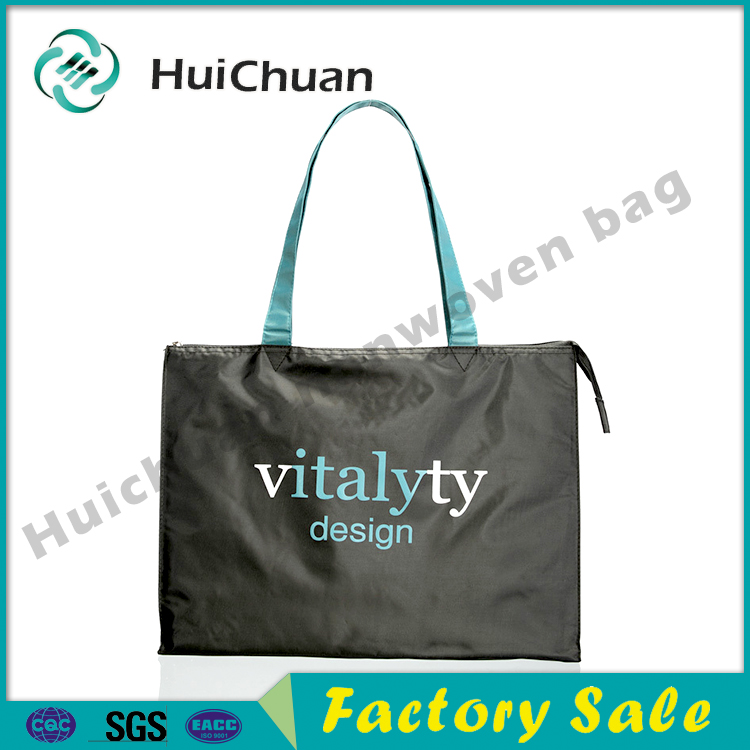 wholesale custom reusable foldable nylon fashion tote cotton gift shopping bag with printing