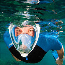 Diving Equipment Easy-breath Full Face Snorkeling Mask With Anti-Fog Function for GoPro Hero 5