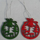 christmas hanging decoration door painted ornament