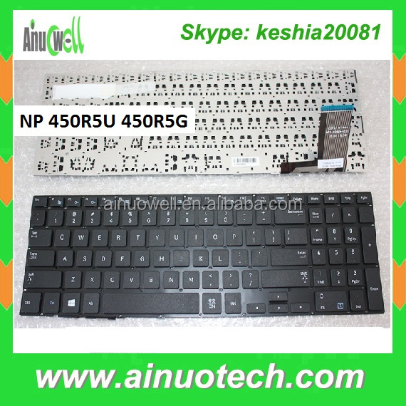 Laptop keyboards for Sam NP 370R5E 510R5E 450R5U 450R5G 470R5E 450R5J Notebook Keyboard with Palm rest US UK IT AR PO PL RU