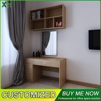 Promotion Small wooden cabinet and ergonomic wooden table bedroom furniture