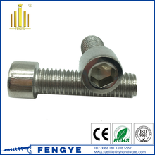 china manufacture stainless steel hex head cap screw m3