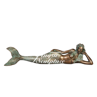 Factory Directly Supplies discount bronze mermaid water fountain