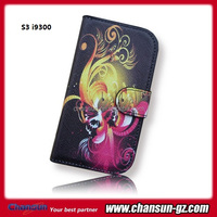 flower design book wallet leather case for samsung galaxy s3 i9300