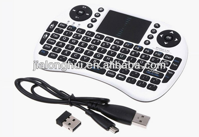 Wireless Universal keyboard multimedia remote control keyboard with touchpad