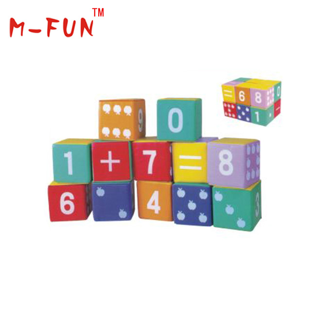 Kids Indoor Soft Play Equipment Math Box Blocks