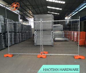 Welded wire mesh temporary anti-Climb mobile fencing for terrain protection