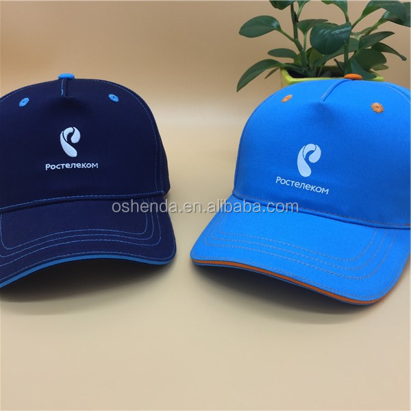 Promotional high quality classical dad hat 5 panel printing baseball cap