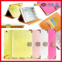 Fashion Design Folio PU Leather Magnetic Smart Case Cover for Apple iPad Mini 2 3 4 with Card Slots