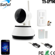 60 defense zones Wireless wifi ip based home camera alarm system with pet friendly pir sensor