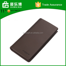Brand logo men leather wallets genuine leather latest design