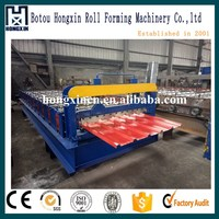 India Trapezoidal Color Coated Metal Roof Tile Roll Form Equipment