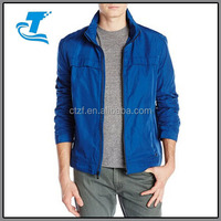 Men's Poly Twill Jacket with Concealed Hood