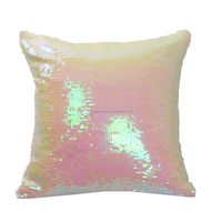 The latest design hot selling home decorative designer handmade sequin cushion cover reversible cushion