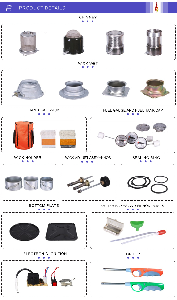 Camping paraffin heaters
