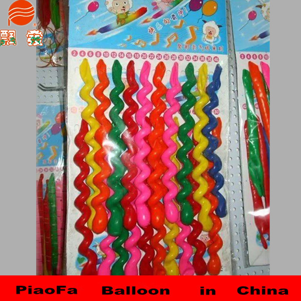 Chinese high quality hot selling spiral latex balloon