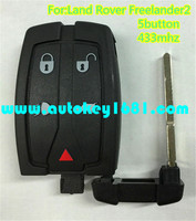 MS smart card 5 button remote control 433mhz for car landrover freelander 2 key with uncut keys blade