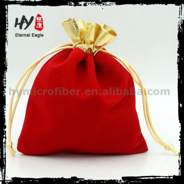 Hot selling travel jewelry pouch, custom suede drawstring bag, gift suede jewelry pouch for pen