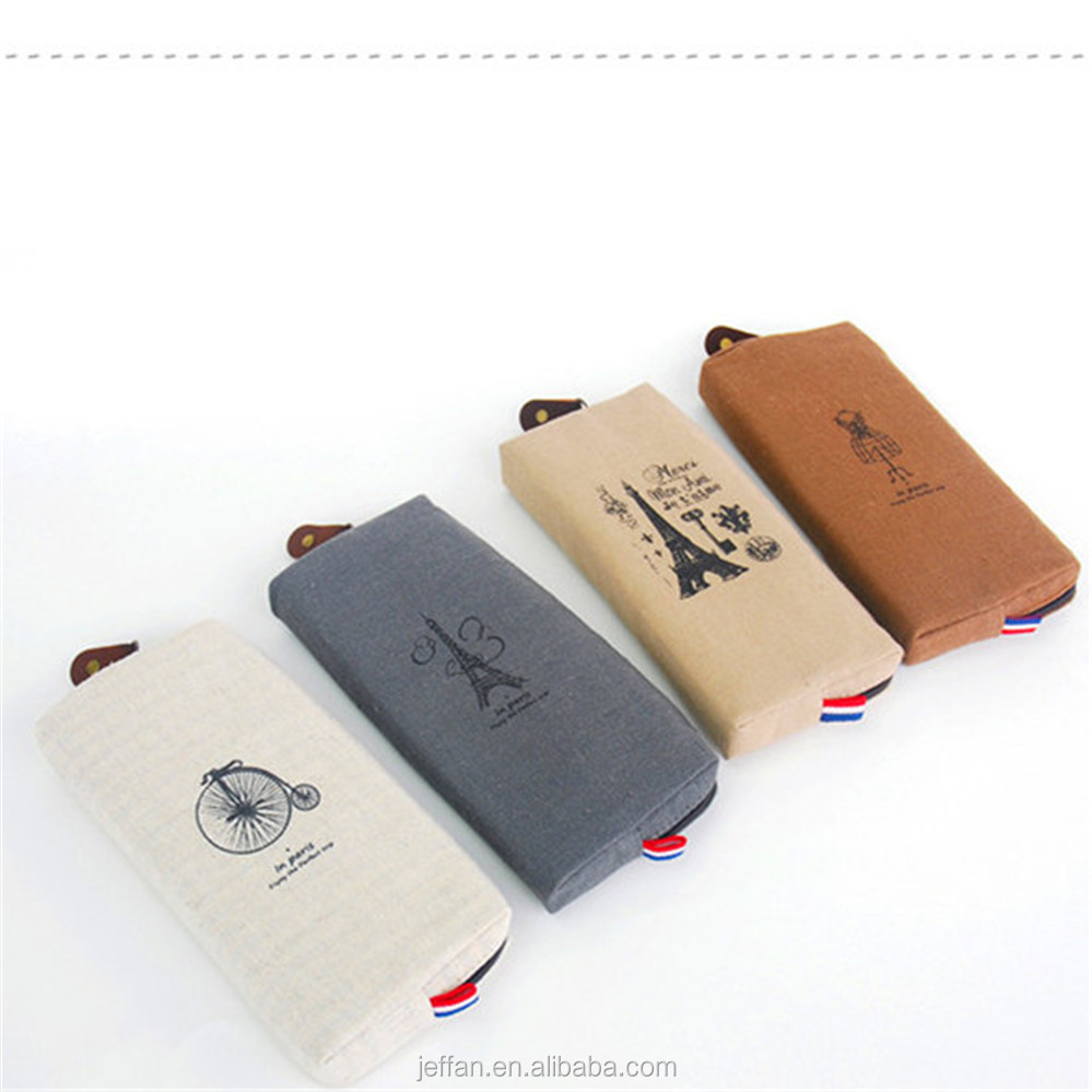 2017 Classic linen Pen Pencil Case Stationery Pouch Bag Case Pencil Bags