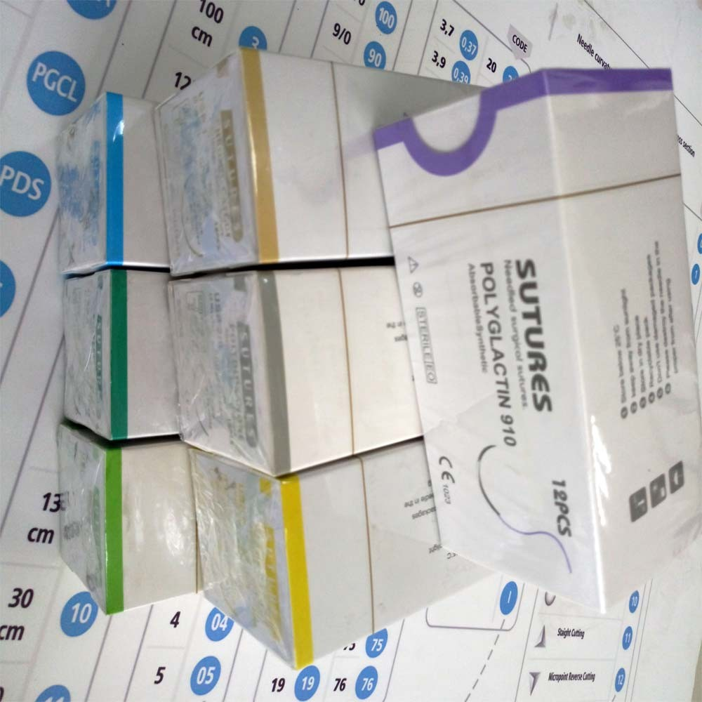 High quality Polyglycolic Acid Surgical Suture with Needle